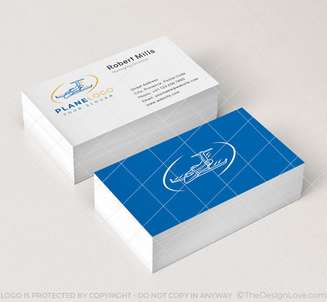 588-Simple-Plane-Travel-Business-Card-Mockup