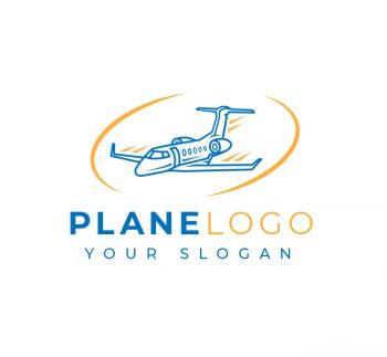 Simple Plane Travel Logo & Business Card