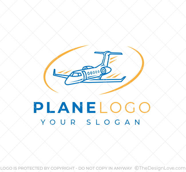 Simple Plane Travel Logo
