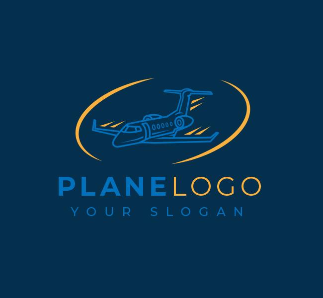 588-Simple-Plane-Travel-Stock-Logo
