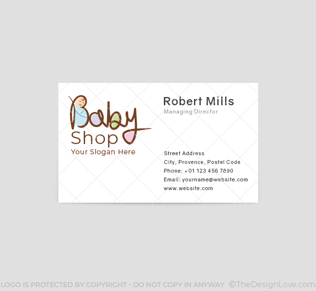 621-Cute-Baby-Shop-Business-Card-Front