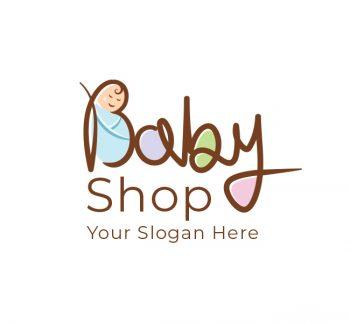 Cute Baby Shop Logo & Business Card