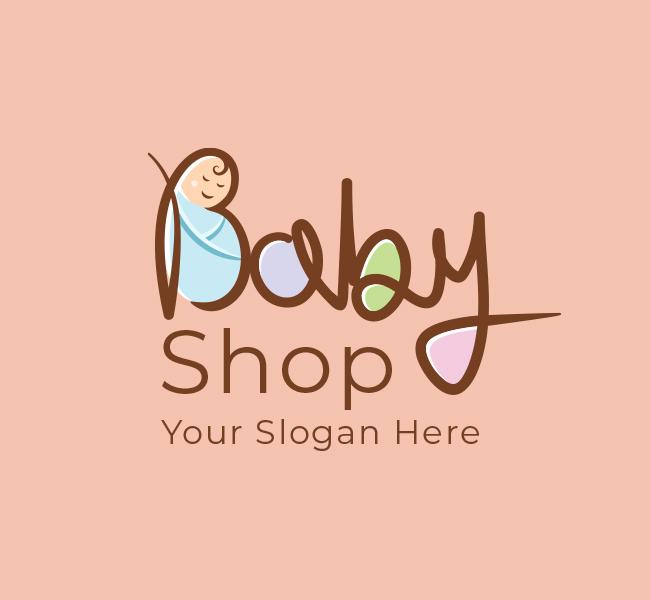 621-Cute-Baby-Shop-Stock-Logo