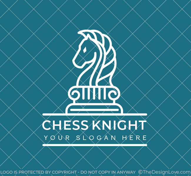 623-Simple-Chess-Knight-Pre-Designed-Logo