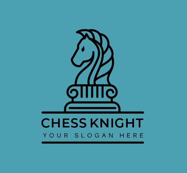 623-Simple-Chess-Knight-Start-up-Logo