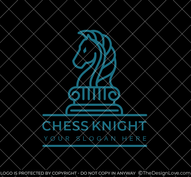 623-Simple-Chess-Knight-Stock-Logo