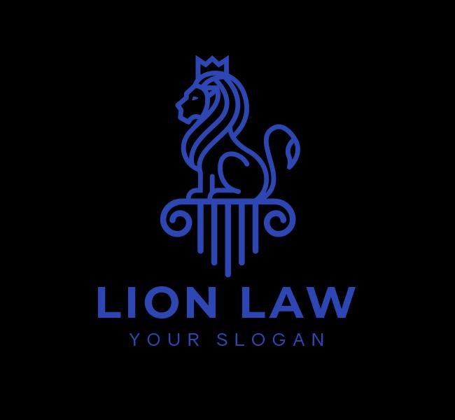 626-Lion-Law-Stock-Logo