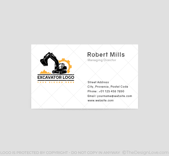632-Excavator-Truck-Business-Card-Front