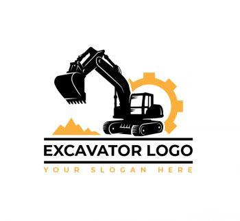 Excavator Truck Logo & Business Card Template
