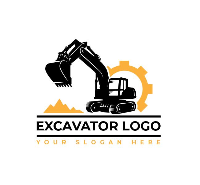Excavator Truck Logo