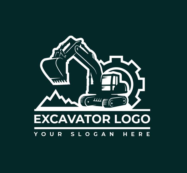 632-Excavator-Truck-Pre-Designed-Logo