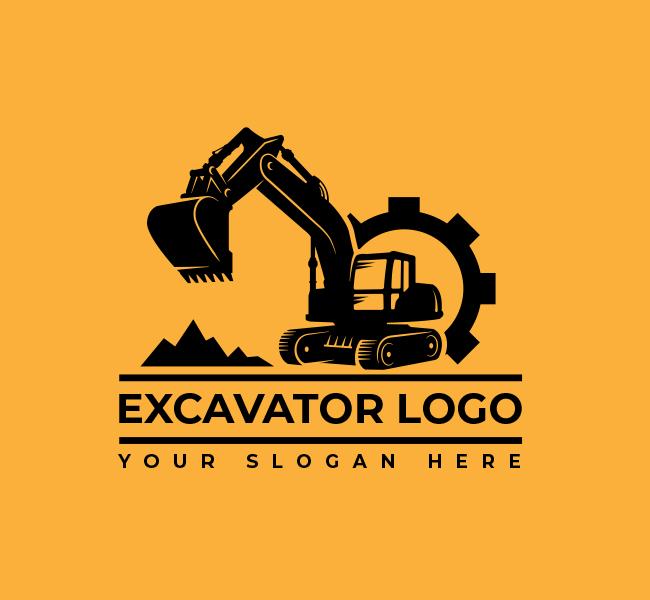 632-Excavator-Truck-Start-up-Logo