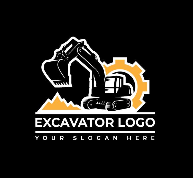 632-Excavator-Truck-Stock-Logo