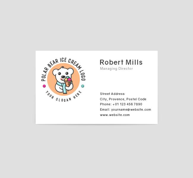 637-Polar-Bear-Ice-Cream-Business-Card-Front