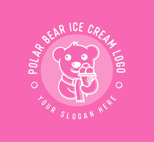 637-Polar-Bear-Ice-Cream-Pre-Designed-Logo