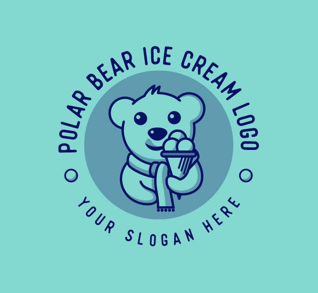 637-Polar-Bear-Ice-Cream-Start-up-Logo