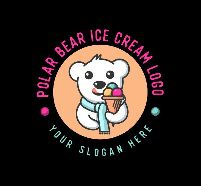637-Polar-Bear-Ice-Cream-Stock-Logo