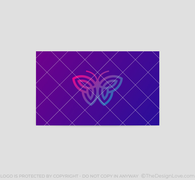 629-Simple-Butterfly-Business-Card-Back