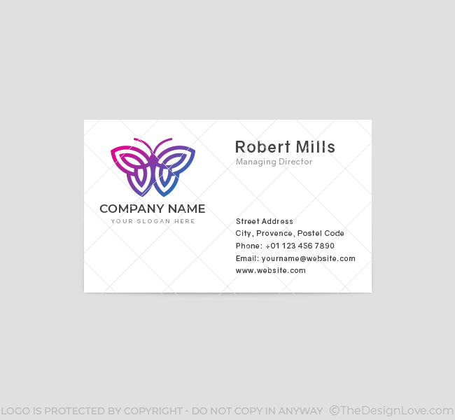 629-Simple-Butterfly-Business-Card-Front