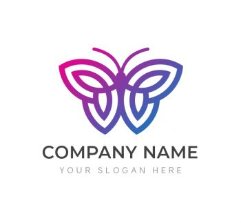 Simple Butterfly Logo & Business Card