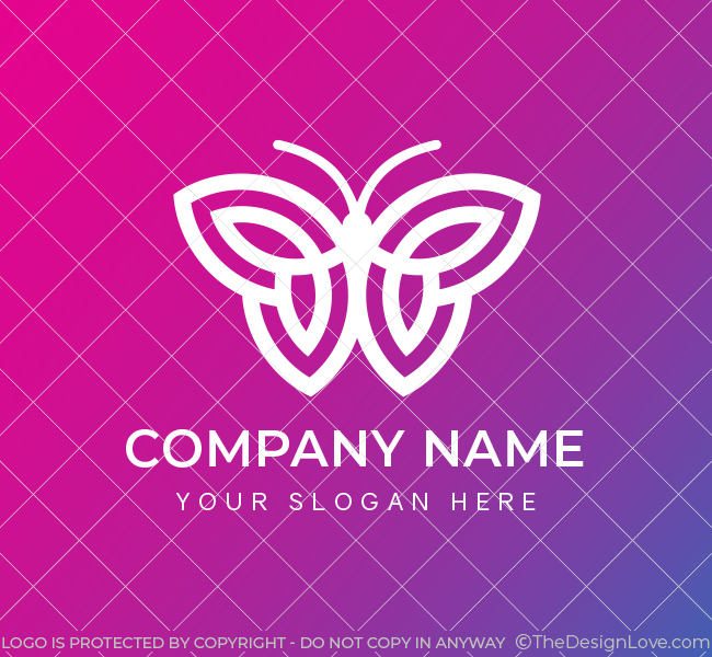 629-Simple-Butterfly-Pre-Designed-Logo