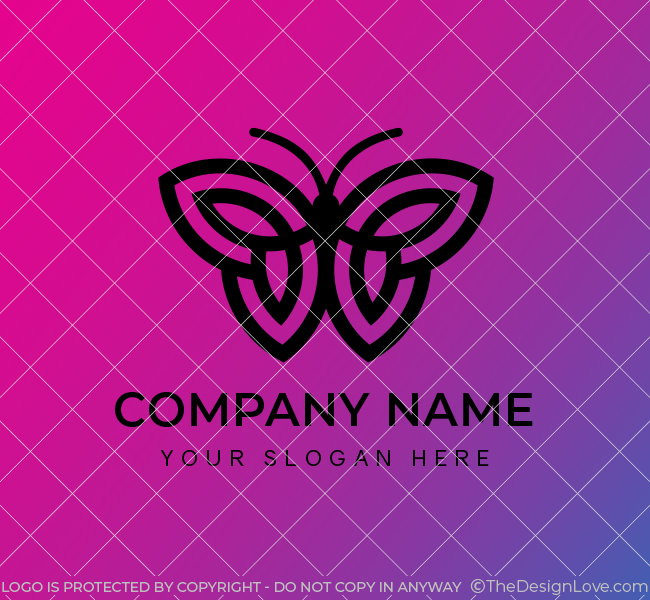 629-Simple-Butterfly-Start-up-Logo