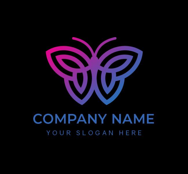 629-Simple-Butterfly-Stock-Logo