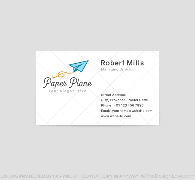 639-Paper-Plane-Business-Card-Front