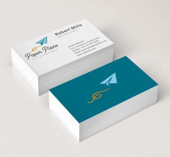 639-Paper-Plane-Business-Card-Mockup