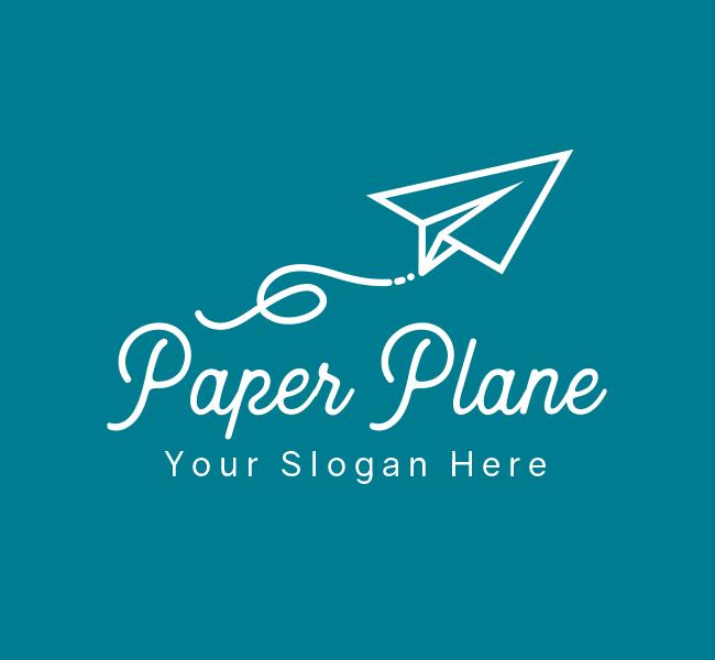 639-Paper-Plane-Pre-Designed-Logo