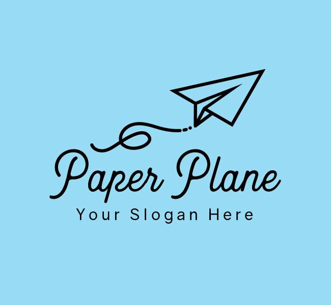 639-Paper-Plane-Start-up-Logo