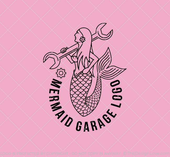 618-Mermaid-Mechanic-Start-up-Logo