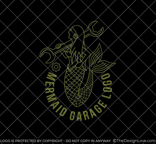 618-Mermaid-Mechanic-Stock-Logo