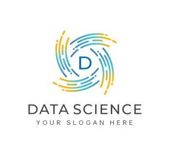 Letter D Data Science Logo & Business Card Template