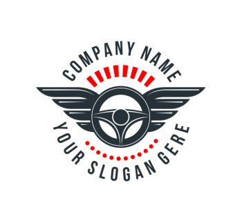 Steering Wheel Logo & Business Card Template
