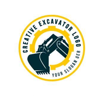 Heavy Excavator Logo & Business Card Template
