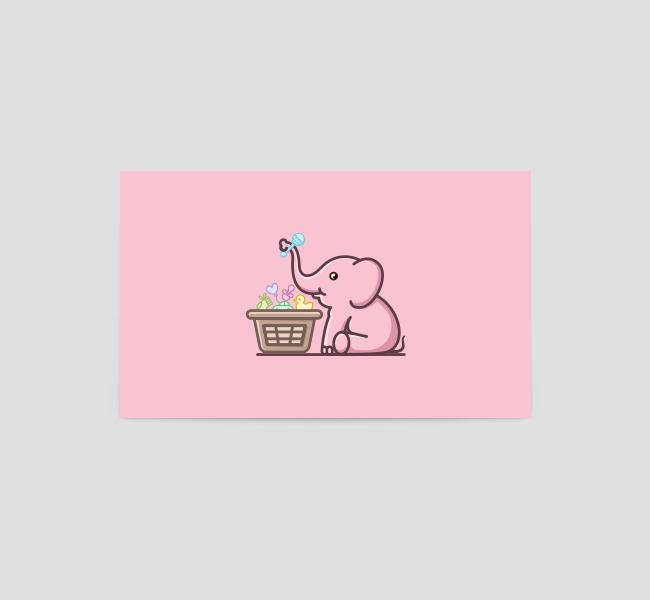 634-Baby-Elephant-Business-Card-Back