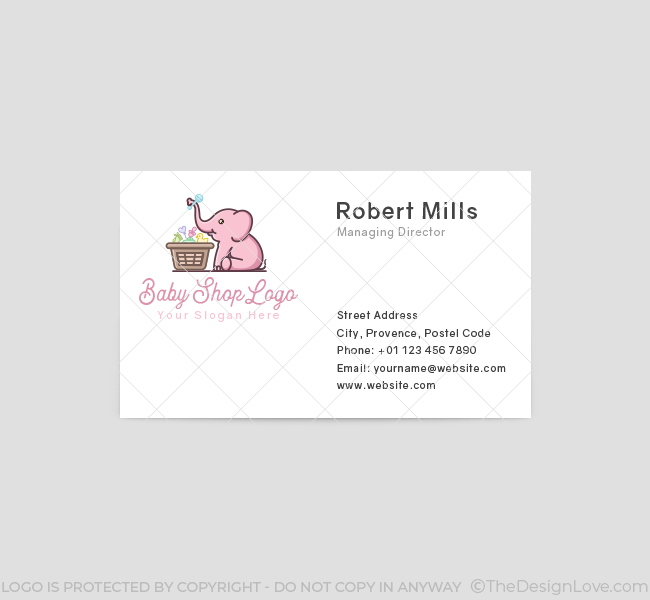 634-Baby-Elephant-Business-Card-Front