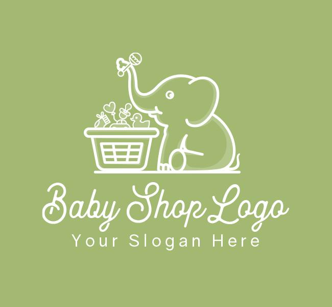 634-Baby-Elephant-Designed-Logo