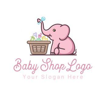 Baby Elephant Logo & Business Card Template