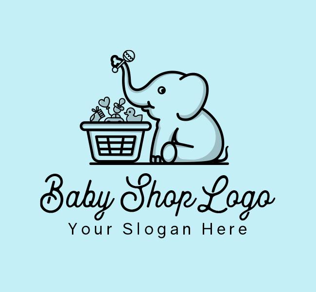 634-Baby-Elephant-Start-up-Logo