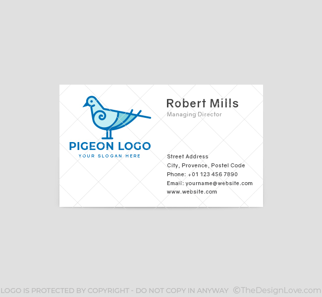 635-Simple-Pigeon-Business-Card-Front