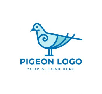 Simple Pigeon Logo & Business Card Template