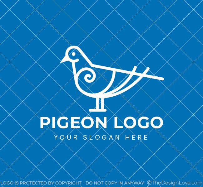 635-Simple-Pigeon-Pre-Designed-Logo