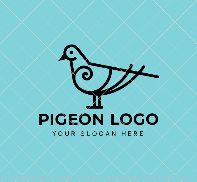 635-Simple-Pigeon-Start-up-Logo