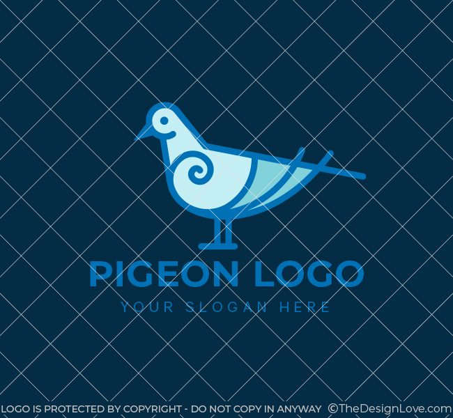 635-Simple-Pigeon-Stock-Logo