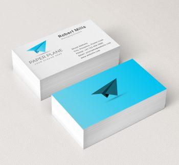640-Simple-Paper-Plane-Business-Card-Mockup