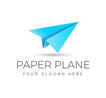 Simple Paper Plane Logo & Business Card