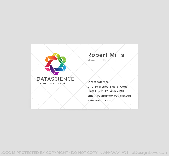 641-Trendy-Data-Science-Business-Card-Front