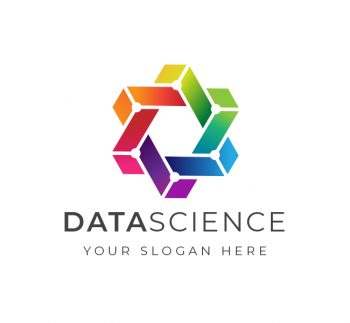 Trendy Data Science Logo & Business Card Template